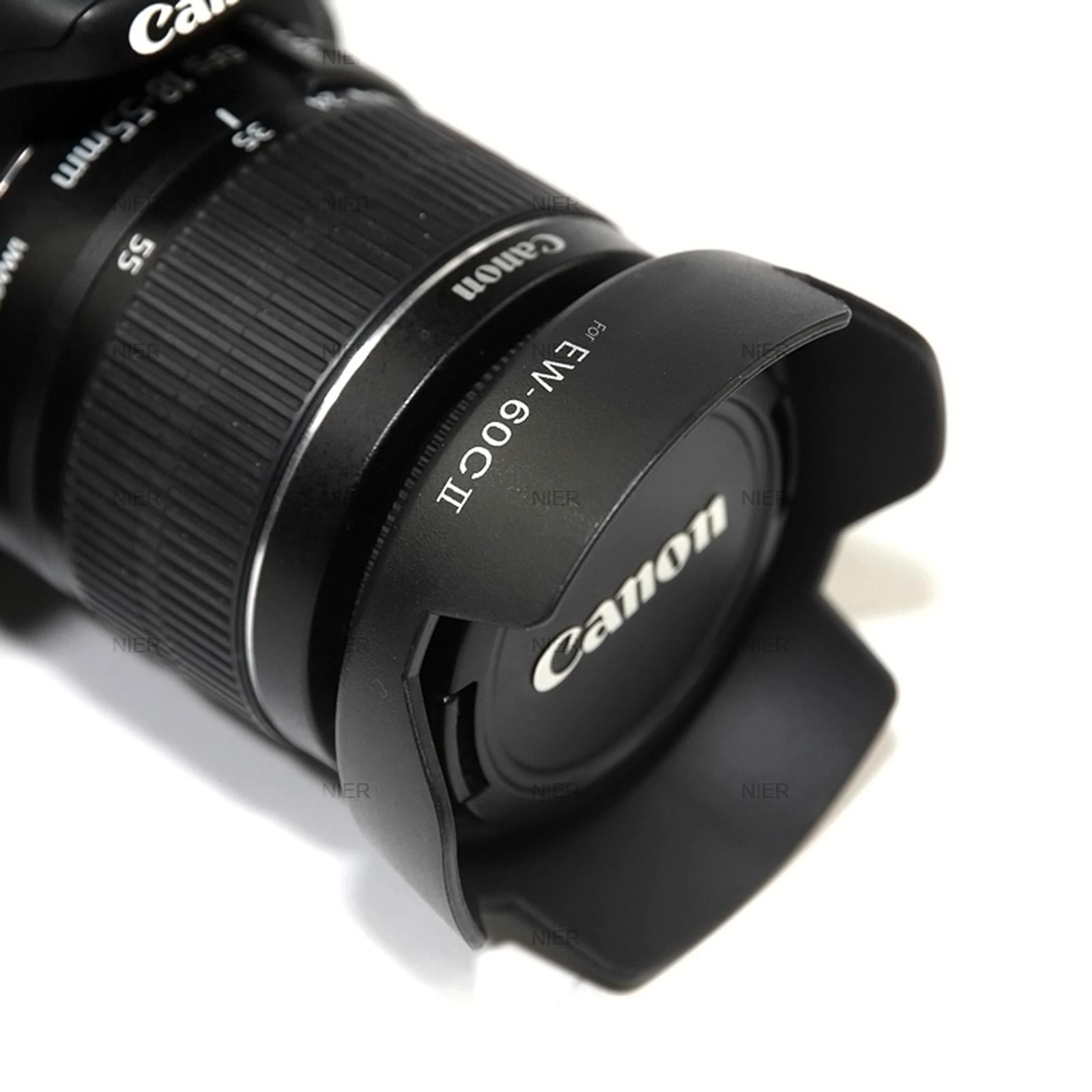 2 x Sonnenblende EW-60C II für Canon EOS Tulpe Gegenlichtblende EF 18-55mm 700D
