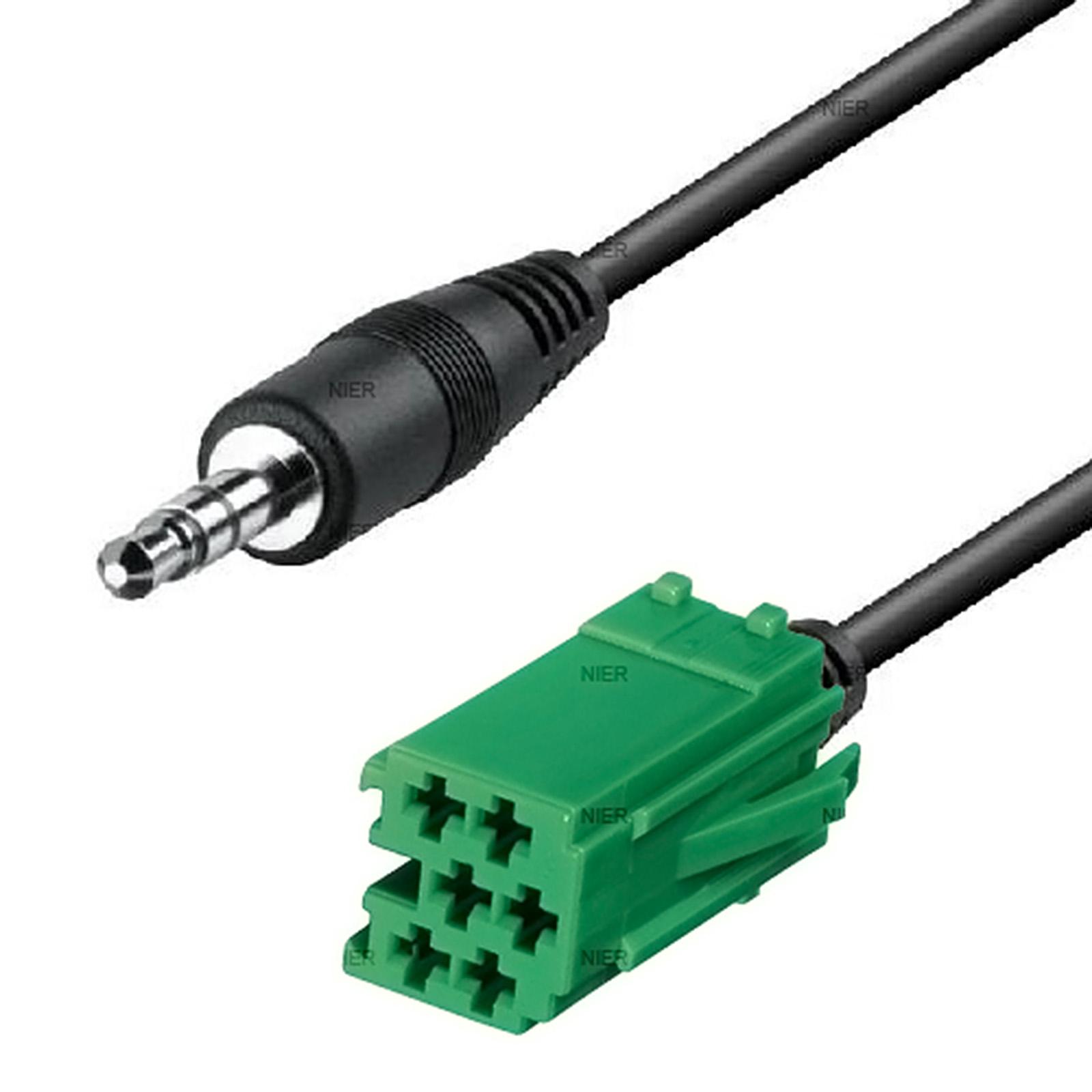 aux cable mini iso for renault carminat megane clio laguna car radio adapter. Black Bedroom Furniture Sets. Home Design Ideas