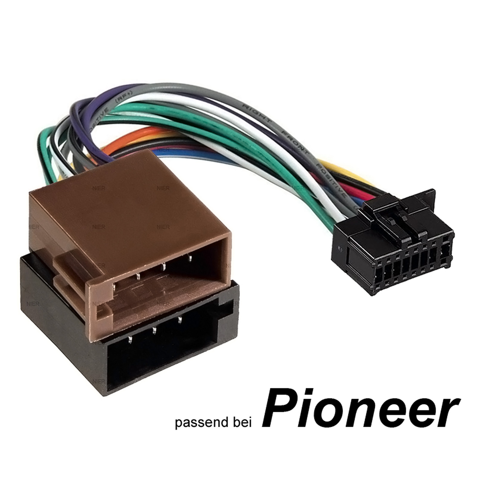 auto radio adapter kabel f r pioneer stecker din iso 16. Black Bedroom Furniture Sets. Home Design Ideas