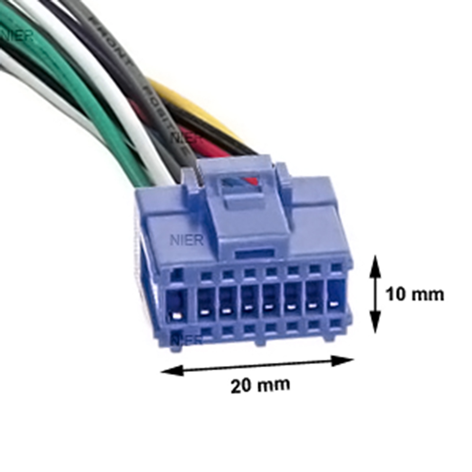 adapter cable for pioneer car radio din iso blue 16 pin cable loom vehicle ebay