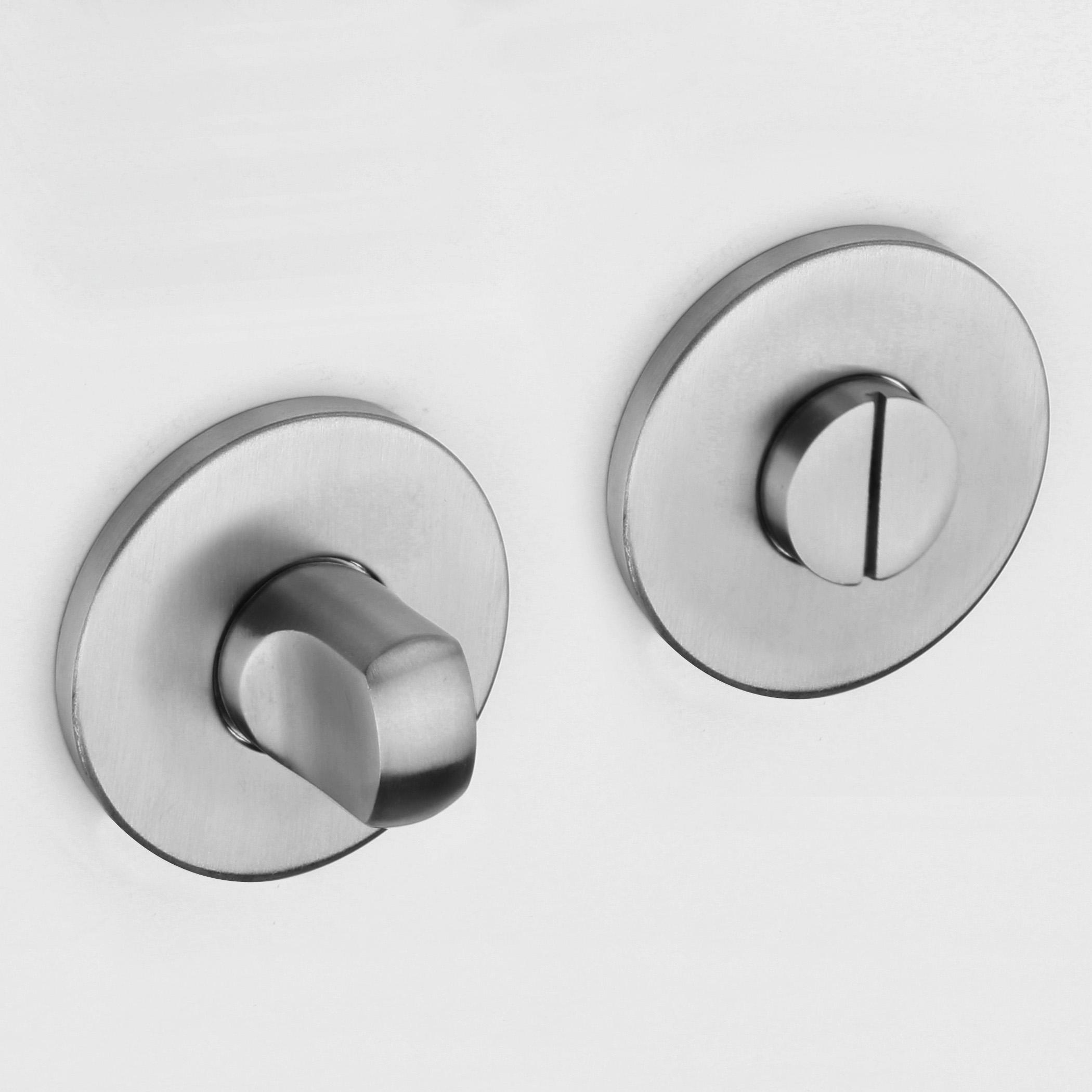 wc bad verschluss schloss verriegelung toilette t r drehknopf t rgriff edelstahl 740999294577 ebay. Black Bedroom Furniture Sets. Home Design Ideas